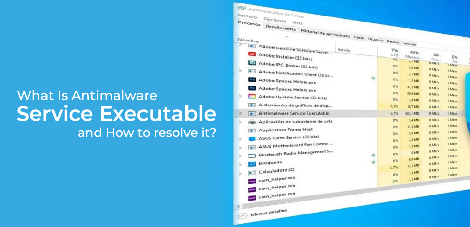 What Is Antimalware Service Executable and How to resolve it?